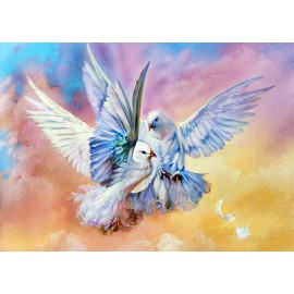 Kit Diamond Painting - Palomas - Collection d Art
