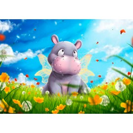 Kit Diamond Painting - Hippo - Collection d Art