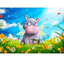Kit Diamond Painting - Hippo - Collection d'Art