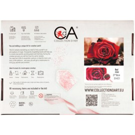 Kit Diamond Painting - Rosa Roja - Collection d Art