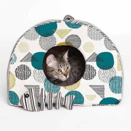Patrón Katia - Casita gato y raspa