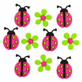 Botones Ladybug Crossing - Dress It Up
