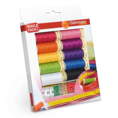 Gutermann Hilo De Coser todos Set Costura Acolcha Patchwork 100M x7 Conjunto De Color Elegir