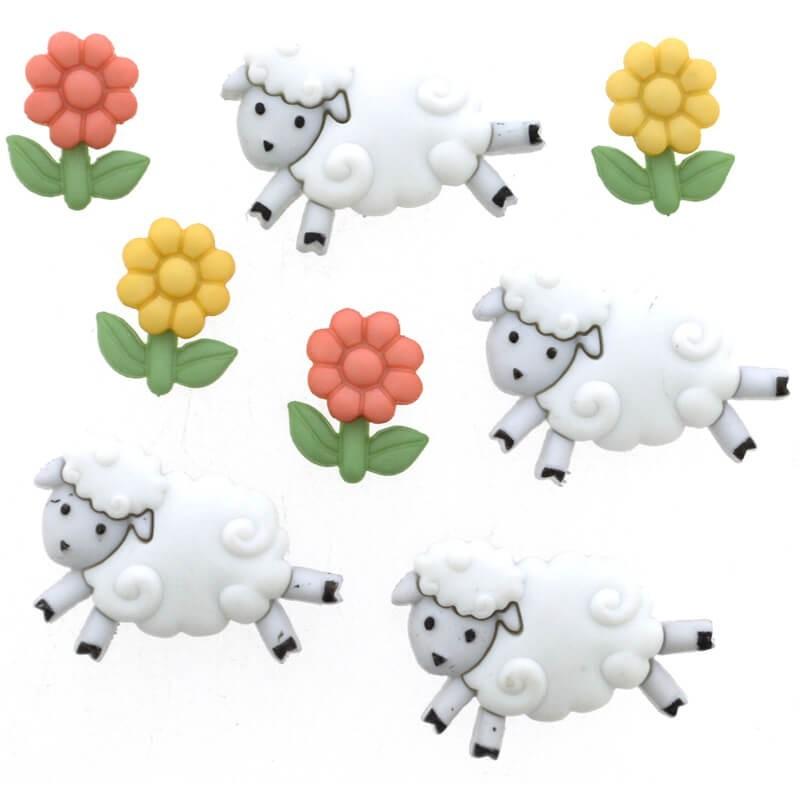 Botones Counting Sheep - Dress It Up