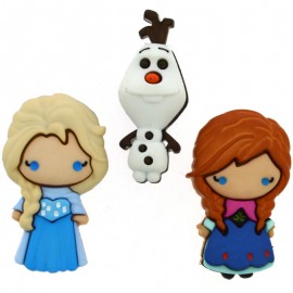 Botones Frozen: Elsa, Anna & Olaf - Dress It Up
