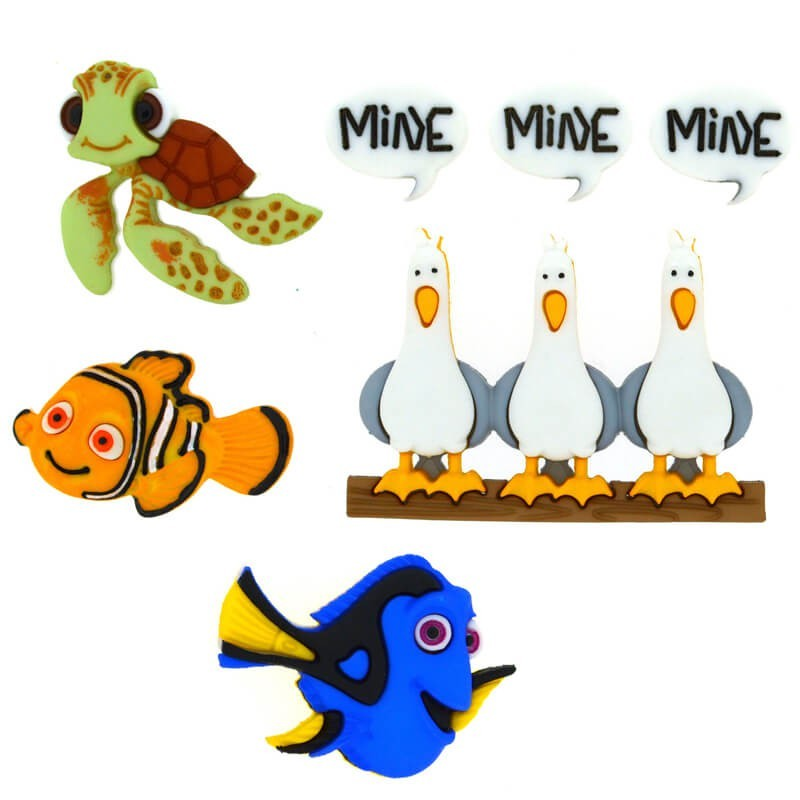 Botones Finding Nemo - Dress It Up