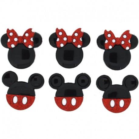 Botones Mickey and Minnie - Dress It Up