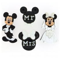 Botones Mickey and Minnie Wedding - Dress It Up
