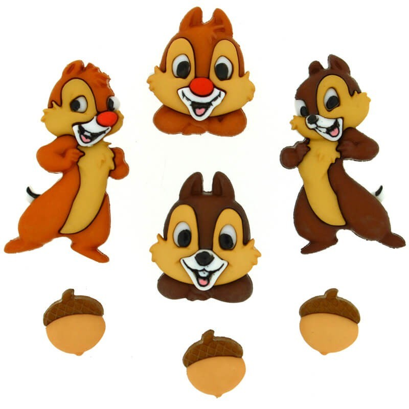 Botones Chip and Dale - Dress It Up