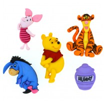 Botones Winnie The Pooh - Dress It Up