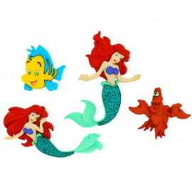 Botones The Little Mermaid - Dress It Up