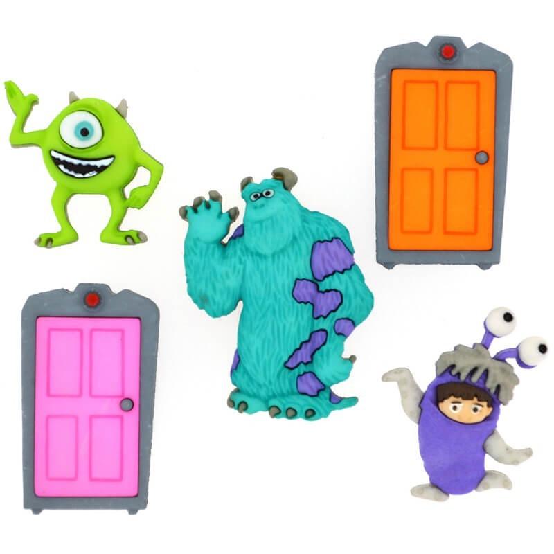 Botones Monsters INC - Dress It Up