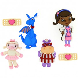 Botones Doc Mcstuffins - Dress It Up