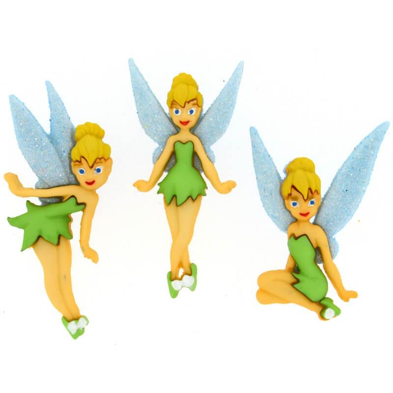 Botones Tinkerbell - Dress It Up - Las Tijeras Mágicas