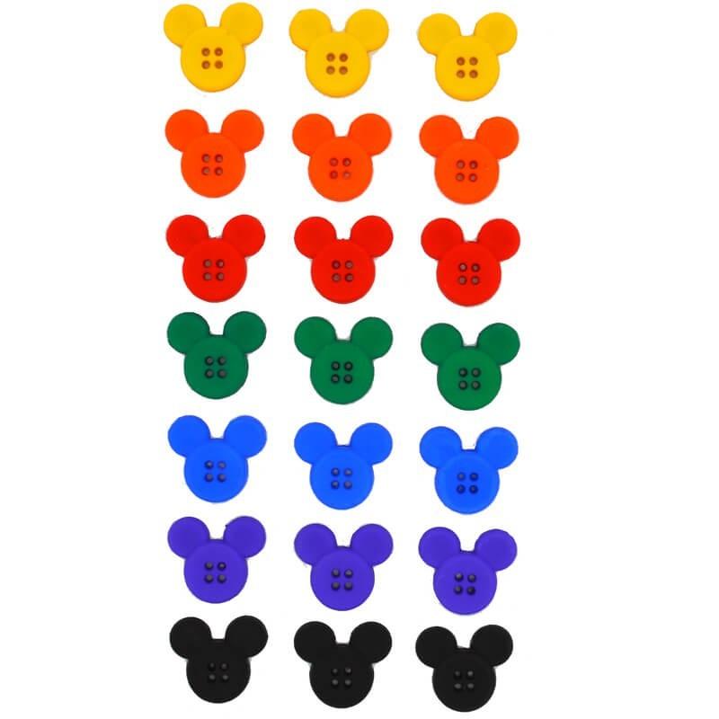 Botones Sew Thru Mickey - Dress It Up