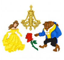 Botones Beauty and Beast - Dress It Up