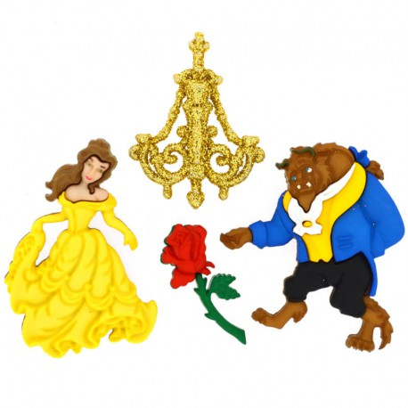 Botones Beauty and Beast - Dress It Up