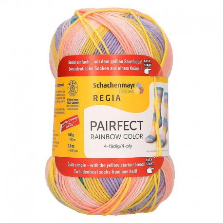 Regia Pairfect Rainbow Color - 4 ply