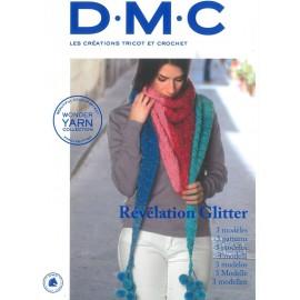 Revista DMC Creaciones de Tricot y Crochet Revelation Glitter 3 modelos - 2018