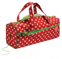 Knitting Bag Polka Dots in red and white - Prym