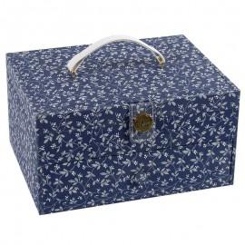 Costurero con Asa DMC - Fleurs Bleues