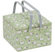 Double lid Sewing Box - Sheep