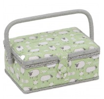 Rectangular Small Sewing Box – Sheep