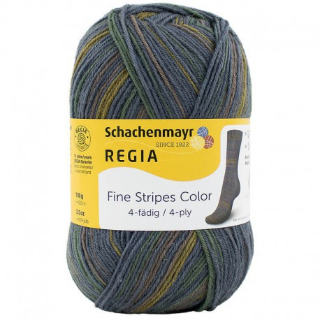 Regia Fine Stripes Color - 4 ply