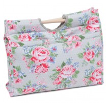 Knitting bag with wooden handles - Rose