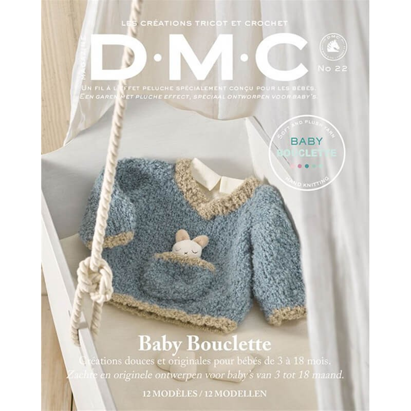 Patrón de ganchillo DMC cárdigan de bebé
