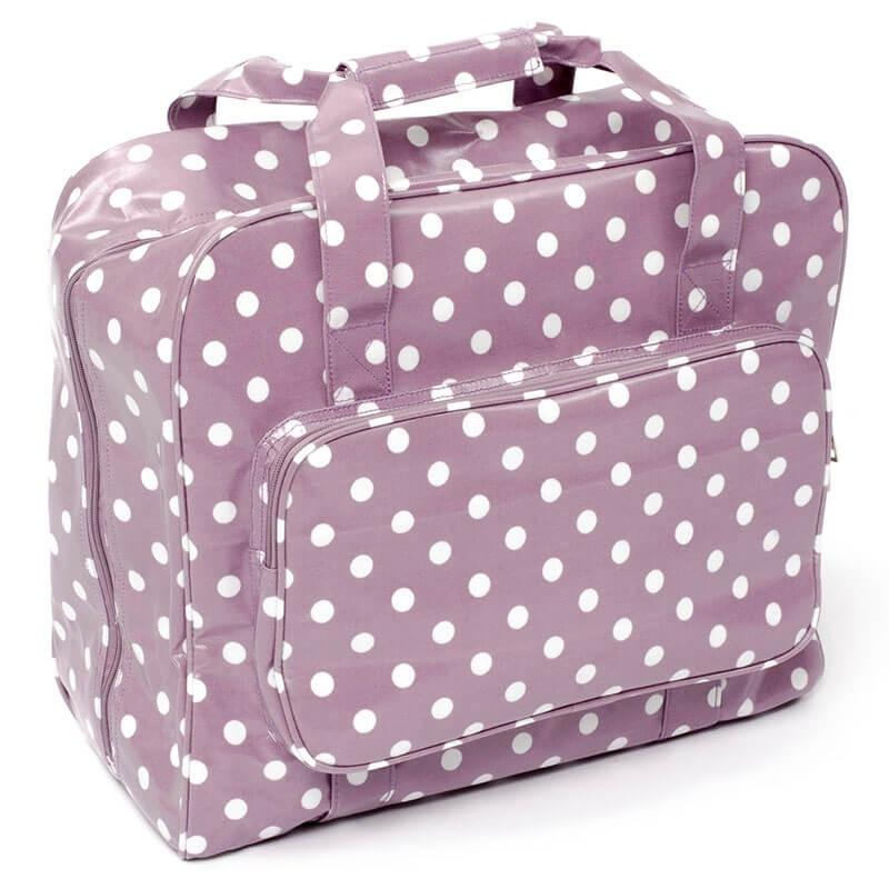 Sewing machine bag – Mauve Spot