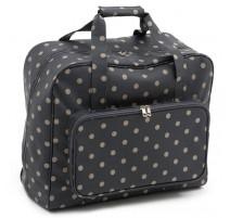 Sewing machine bag – Charcoal Polka Dot