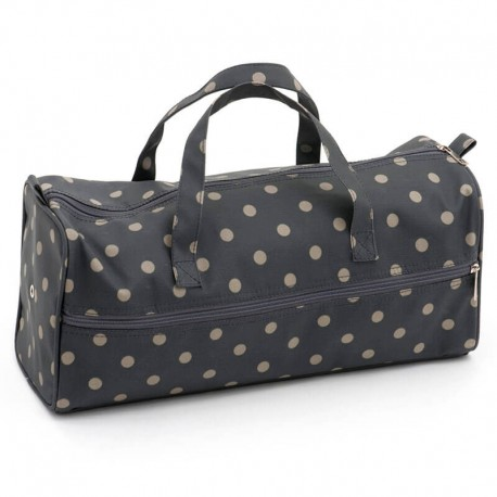 Bolsa de Labores - Charcoal Polka Dot