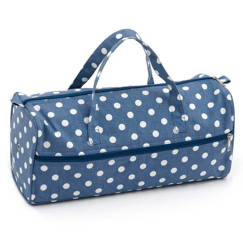 Bolsa de Labores - Denim Polka Dot