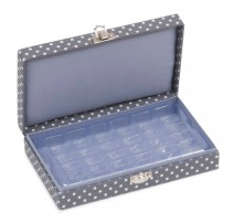 Bobbin Organiser Box – Mini Grey Spot