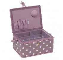 Medium Sewing Box - Mauve spot