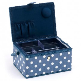 Costurero Mediano - Denim Polka Dot