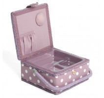 Small Sewing Box – Mauve Spot