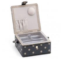 Costurero pequeño - Charcoal Polka Dot