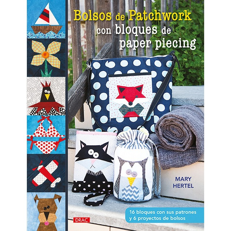 Bolsos de Patchwork con Bloques de Paper Piecing