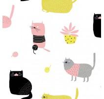 Tela Katia Knitting Meow