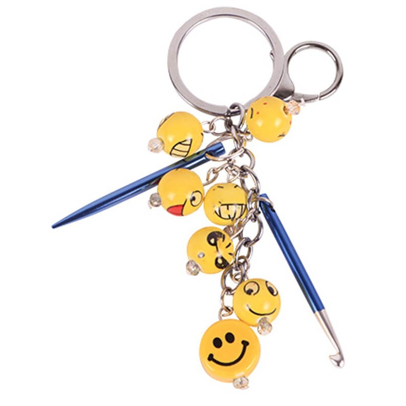 Llavero con charms - Happiness KnitPro