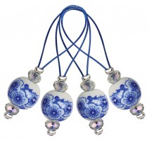 Stitch markers - Blooming Blue KnitPro