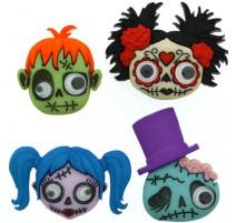 Botones Zany Zombies - Dress It Up