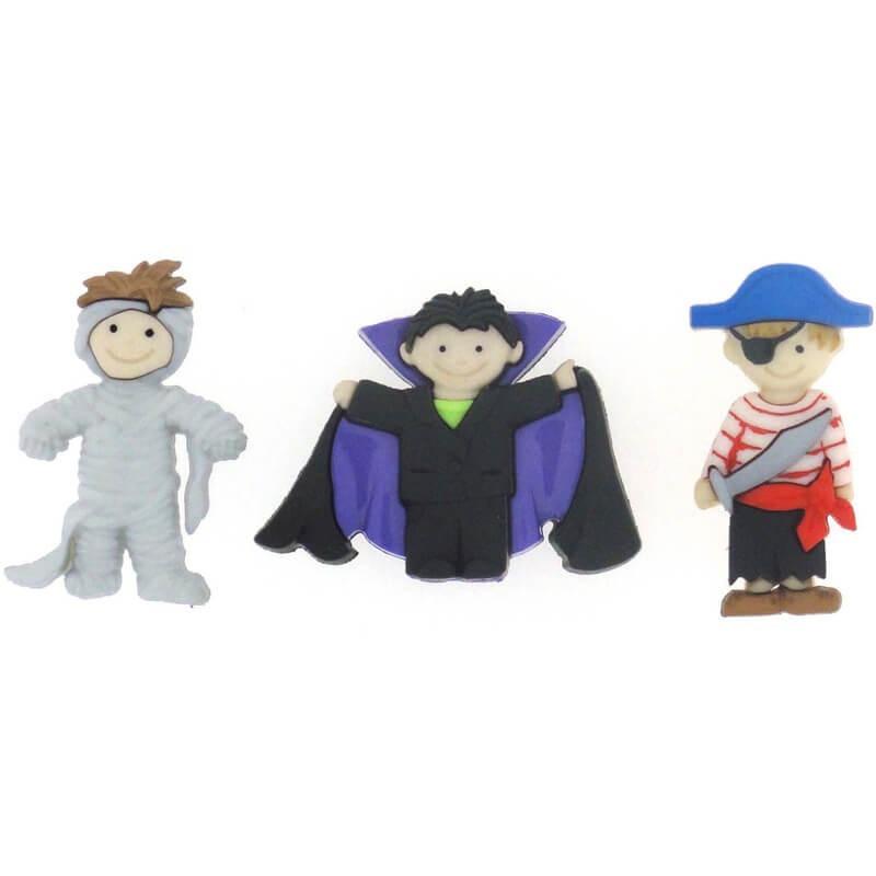 Botones Ghoulies & Ghosties Boy - Dress It Up