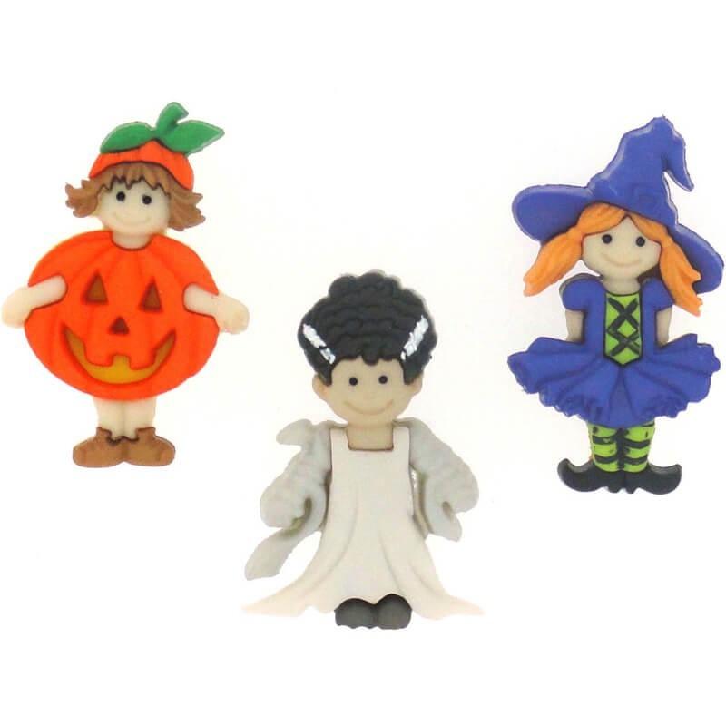 Botones Ghoulies & Ghosties Girl - Dress It Up