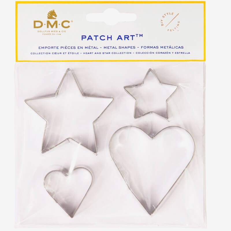 Moldes de metal Corazon y Estrella - Patch Art - DMC