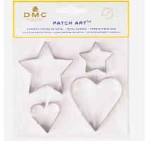 Moldes de metal Corazon y Estrella - Patch Art - DMC