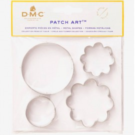 Moldes de metal Circulo y Flor - Patch Art - DMC