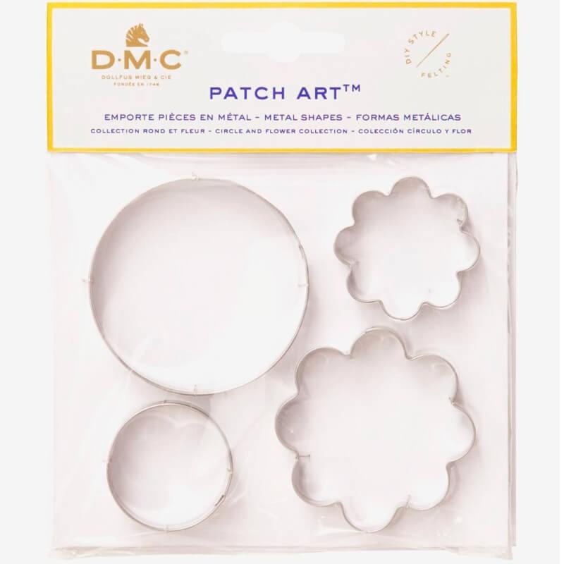 Moldes de metal Circulo y Flor - Patch Art - DMC